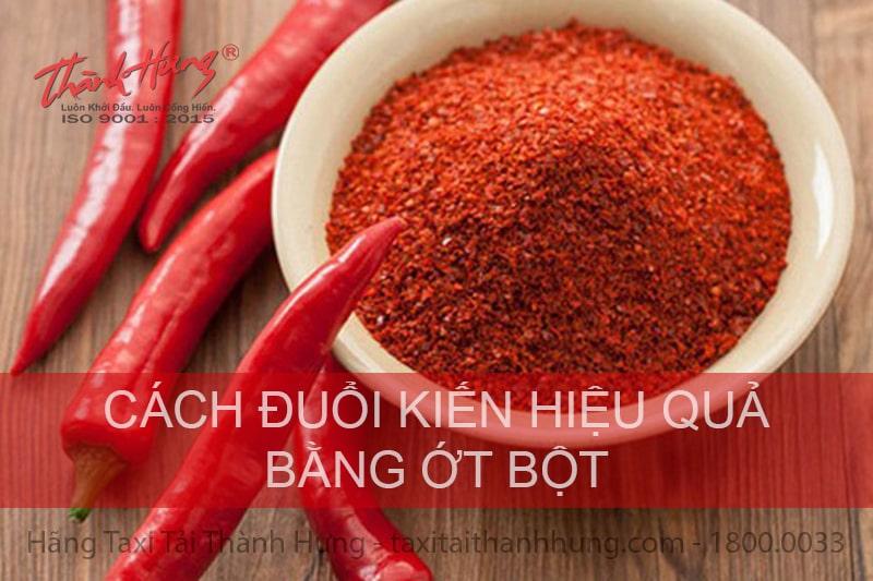 Đuổi kiến bằng ớt bột