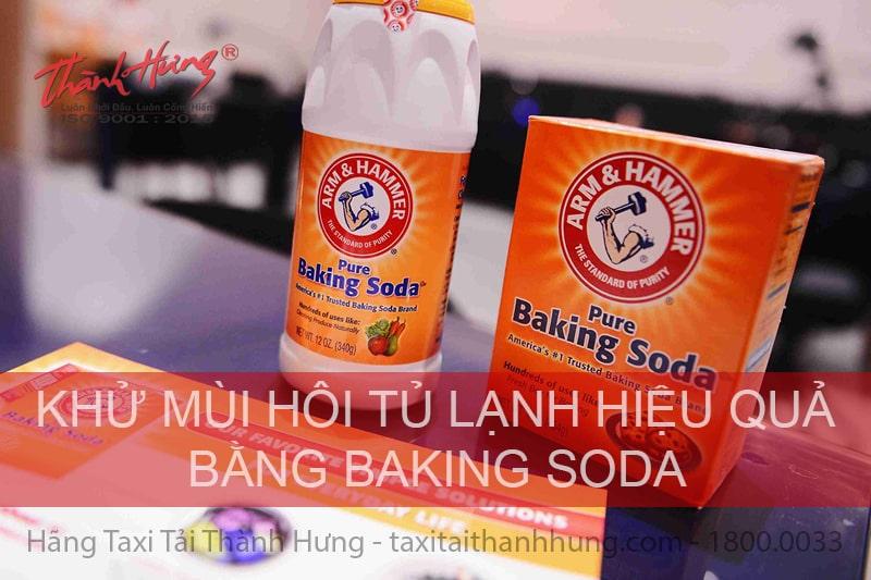 Khử mùi tủ lạnh bằng banking soda.