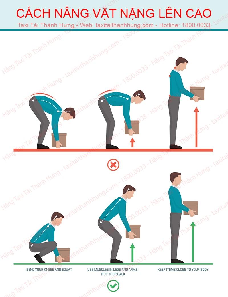 Cách di chuyển đồ vật nặng đúng phương pháp
