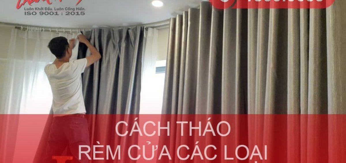Cách tháo rèm cửa để giặt/chuyển nhà nhanh & đơn giản