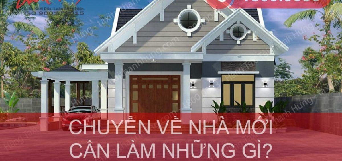 Chuyển về nhà mới cần làm những gì?