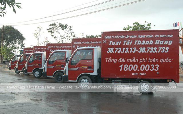 Đoàn xe Taxi Tải Thành Hưng tại Hà Nội sẵn sàng phục vụ khách hàng