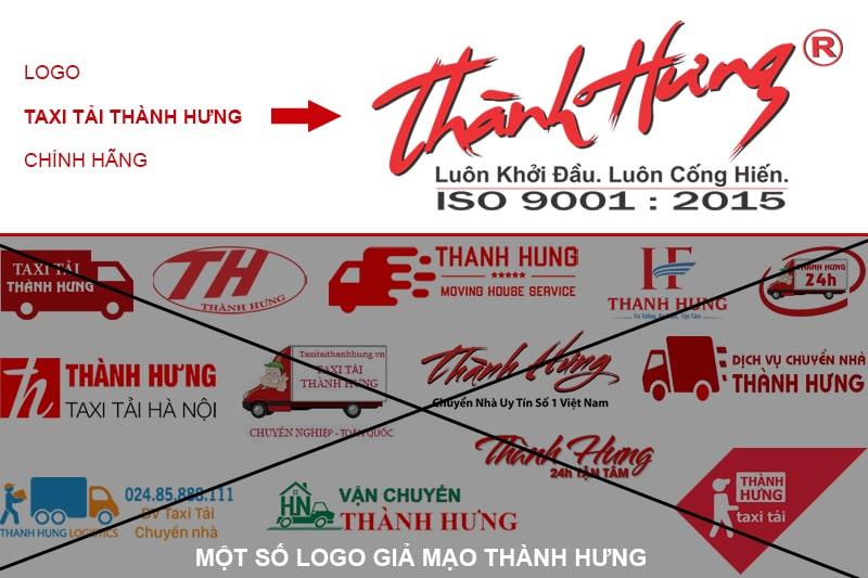 Nhận biết các logo giả mạo Hãng Taxi Tải Thành Hưng