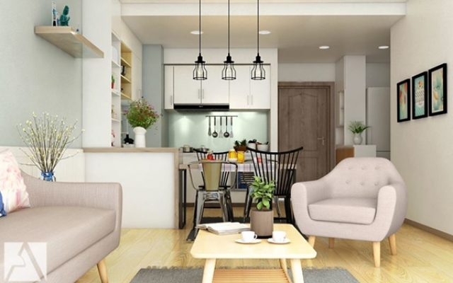 Màu sơn gam nâu gỗ mang lại không gian sang trọng cho căn phòng