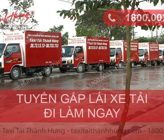 Taxi Tải Thành Hưng tuyển lái xe tải tại HN và TPHCM