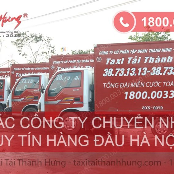 Danh sách top công ty chuyển nhà uy tín tại Hà Nội