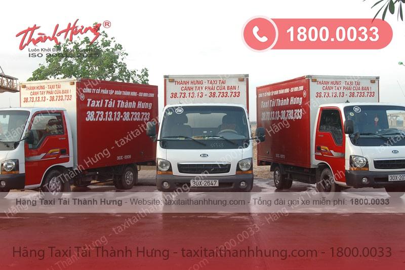 Xe Taxi Tải Thành Hưng đa dạng về kích thước, trọng tải